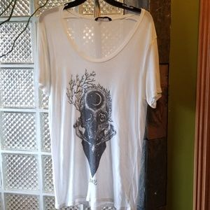 Obey Propaganda white boyfriend t-shirt Skull - L